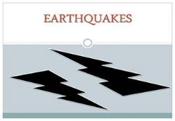 Earthquakes PowerPoint Presentation