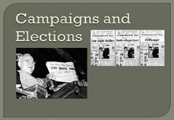 Campaigns and Elections Powerpoint Presentation