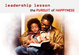 Leadership explained in the PURSUIT of HAPPYNESS Powerpoint Presentation