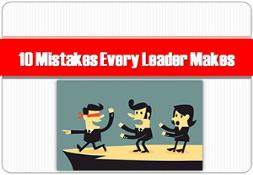 10 Mistakes every leader makes Powerpoint Presentation