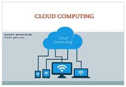 Cloud Computing Future Tech PowerPoint Presentation