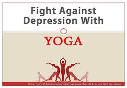 Fight against depression with YOGA PowerPoint Presentation