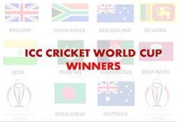 ICC Cricket World Cup Winner List PowerPoint Presentation