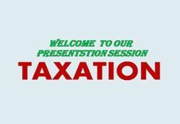 Taxation PowerPoint Presentation