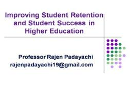 Improving student retention & success in higher education PowerPoint Presentation