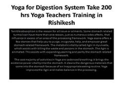 Yoga for Digestion System PowerPoint Presentation
