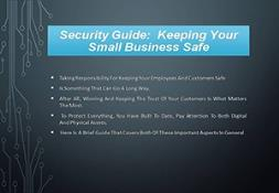 Security Guide Keeping Your Small Business Safe PowerPoint Presentation