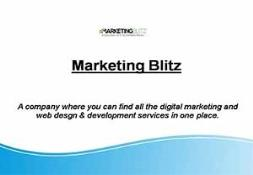 Seo Web Design And Web Development Company-Marketing Blitz PowerPoint Presentation
