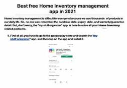 Best free Home Inventory management app in 2021 PowerPoint Presentation