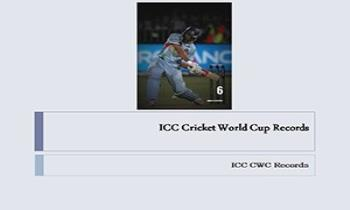 ICC Cricket World Cup Records Ppt Presentation