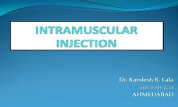 Intramuscular Injection Ppt Presentation