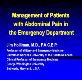 Management of Patients with Abdominal Pain in the Emergency Powerpoint Presentation