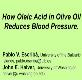 How Oleic Acid in olive oil reduces blood pressure Powerpoint Presentation