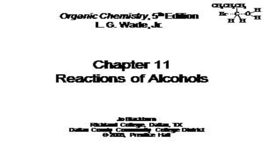 Free Download Reactions of Alcohol PowerPoint Presentation