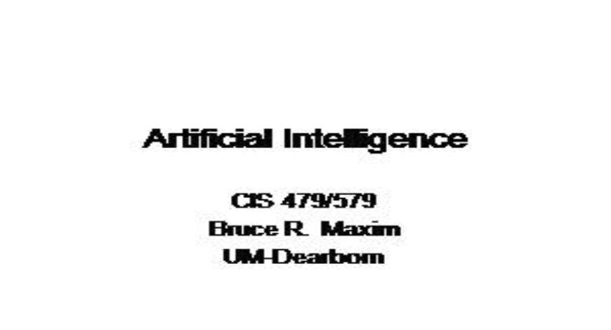Free Download Artificial Intelligence todays new